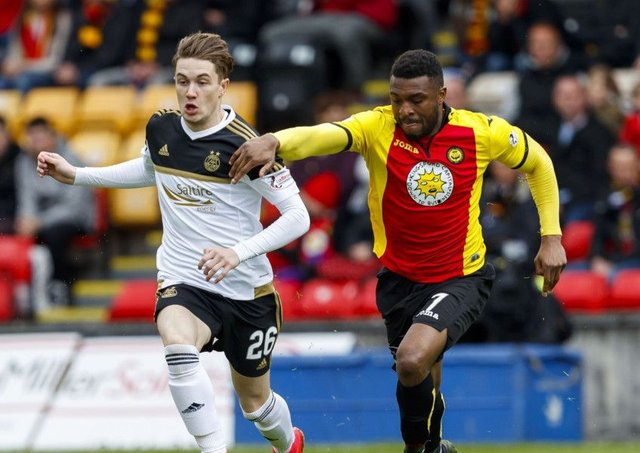 David Amoo, right, is one of five first-team players to exit Partick Thistle. Picture: SNS