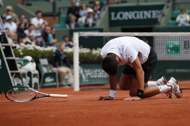Novak Djokovic lost to Austria's Dominic Thiem . Picture: AP