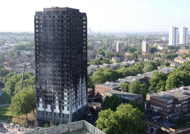 Grenfell Tower in west London was engulfed in a fire. Picture; PA