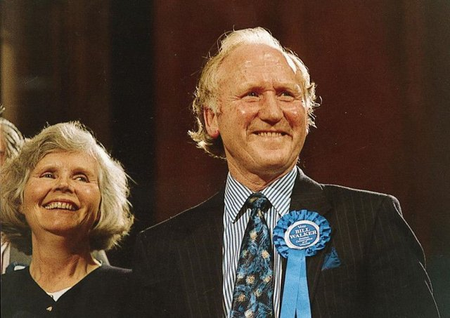 Bill Walker, with wife Mavis, was first elected in 1979