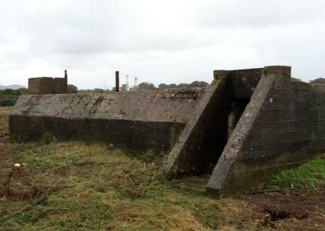 The  air raid shelt discovered by Scottish Water contractors. PIC: Scottish Water.