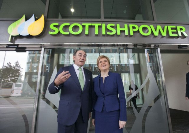 ScottishPower chairman Ignacio Galan with First Minister Nicola Sturgeon at the official opening of the company's new headquarters in Glasgow. Picture: Chris James/ScottishPower/PA Wire