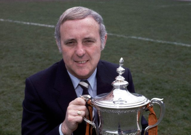 Jim McLean with the Premier Division trophy, won in 1983, when the manager was 45, but the 80th birthday of the architect of the modern Dundee United was ignored