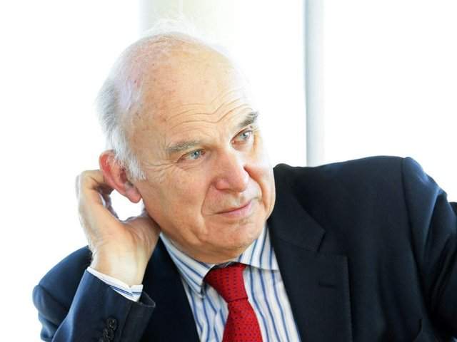 Sir Vince Cable. Picture: Gordon Fraser