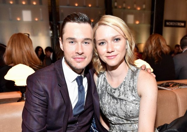 Sam Underwood and his wife Valorie Curry. Picture: Mike Windle/Getty Images