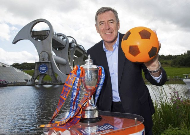 Former Celtic goalie Pat Bonner helped carry out the Irn-Bru Cup second round draw. Picture: Craig Foy/SNS