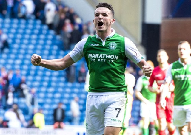 John McGinn was happy that Hibs turned down Nottingham Forests bids says Neil Lennon. Picture: SNS.