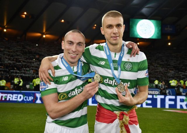 Celtic's Scott Brown and Jozo Simunovic have signed new deals. Picture: SNS/Rob Casey