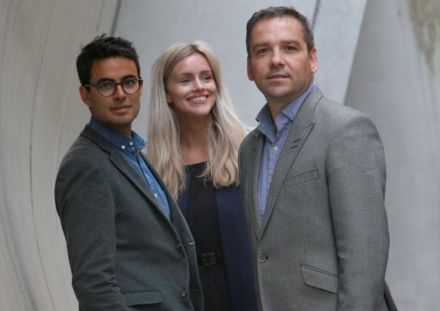 From left: Joshua Ryan-Saha of The Data Lab with Georgia Boyle and Michael Young of MBN. Picture: Stewart Attwood
