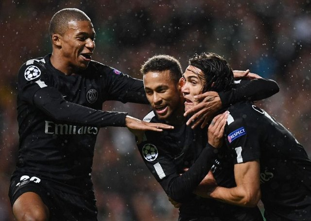 Kylian Mbappe, Neymar and Edinson Cavani form a formidable forward line for Paris Saint-Germain. Franck Fife/AFP/Getty Images