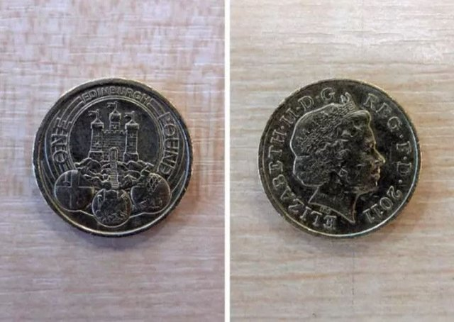 The Edinburgh pound coin is the rarest in circulation according to Change Checker. Picture: Johnston Press
