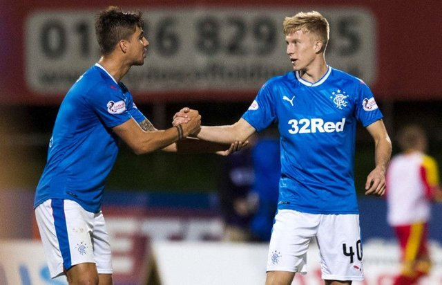 Ross McCrorie, right, with Fabio Cardoso. Picture: SNS