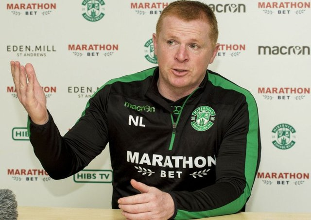 Hibs head coach Neil Lennon wants to see his players shouting at each other more often. Picture: SNS.