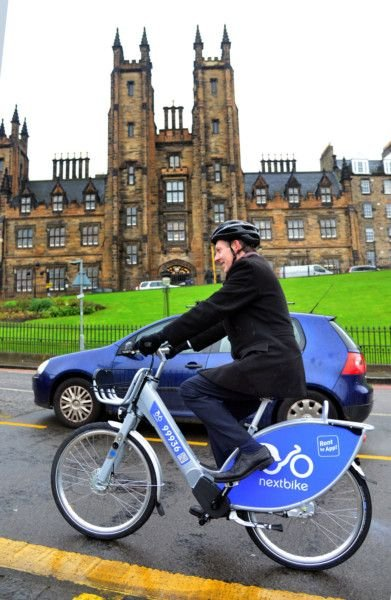 Video Edinburgh S New Electric Bike Hire Given A Test Ride The
