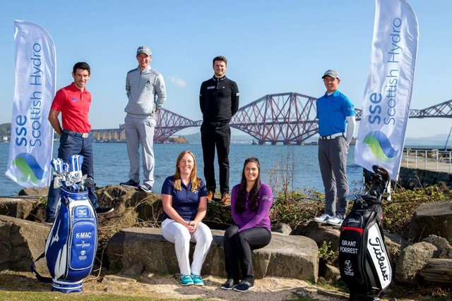 Pictured with her 2017 Team SSE Scottish Hydro players, Gemma Dryburgh, front left, will be playing on the LPGA Tour next season. Picture: Kenny Smith