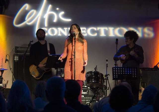 Roberta Sa performs as part of the Celtic Connections festival