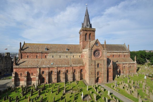 St Magnus Cathedral in Kirkwall, Orkney