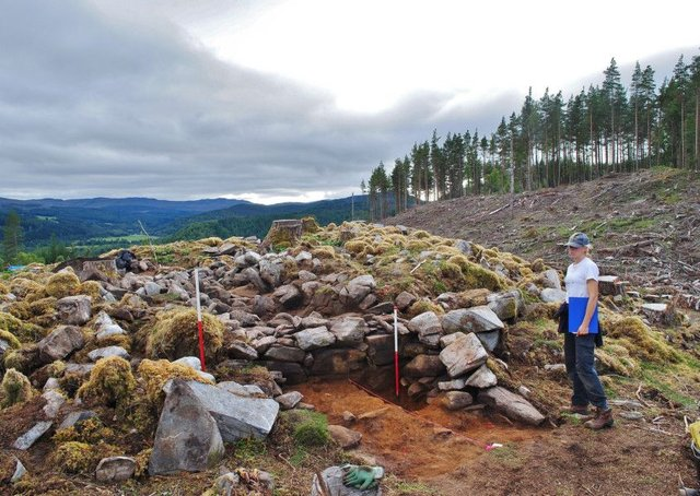 The site at Strathglass was first used around 2,400 years ago. PIC: AOC Archaeology.
