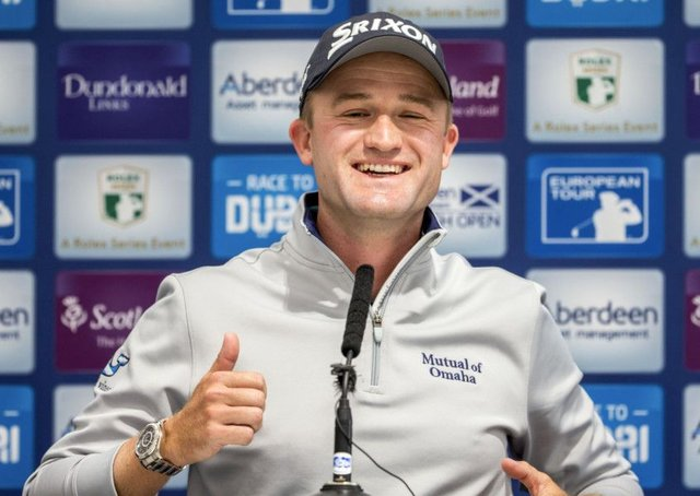 Russell Knox is back up to 77th in the rankings. Picture: SNS.