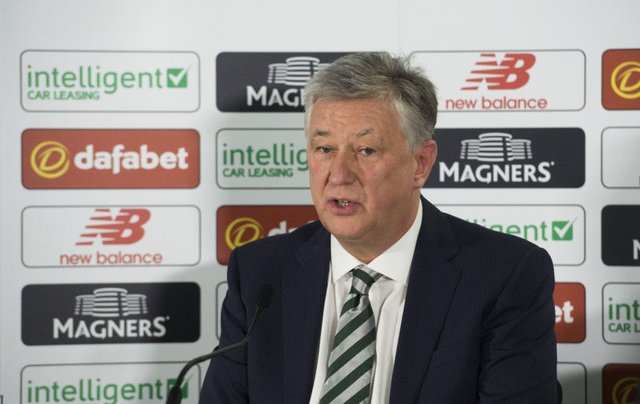 Celtic chief executive Peter Lawwell is planning on writing to Stewart Regan. Picture: SNS Group