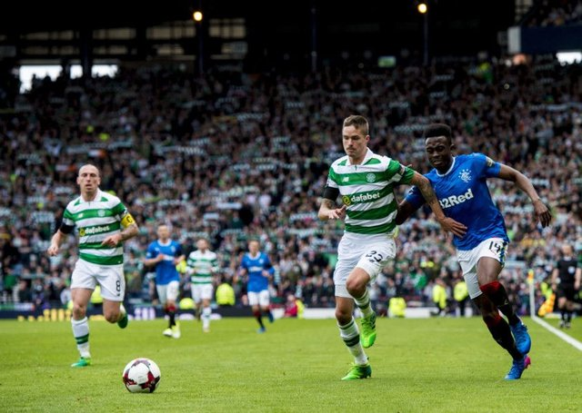 Celtic and Rangers squared off in last season's semi-final. Picture: SNS