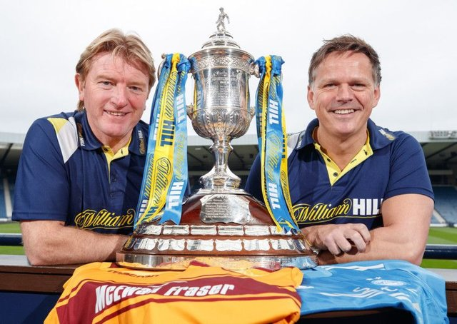 Former Motherwell boss Stuart McCall and ex-Aberdeen striker Scott Booth look ahead to the Scottish Cup semi-finals. Picture: Steve Welsh