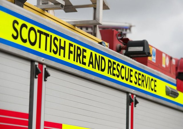 The blaze was extinguished by firefighters from the Scottish Fire and Rescue Service. Picture: John Devlin