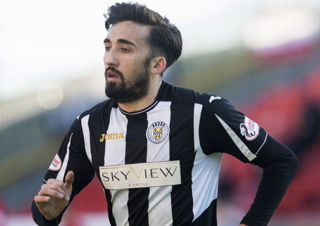 Stelios Demetriou is among eight players departing St Mirren. Picture: SNS Group