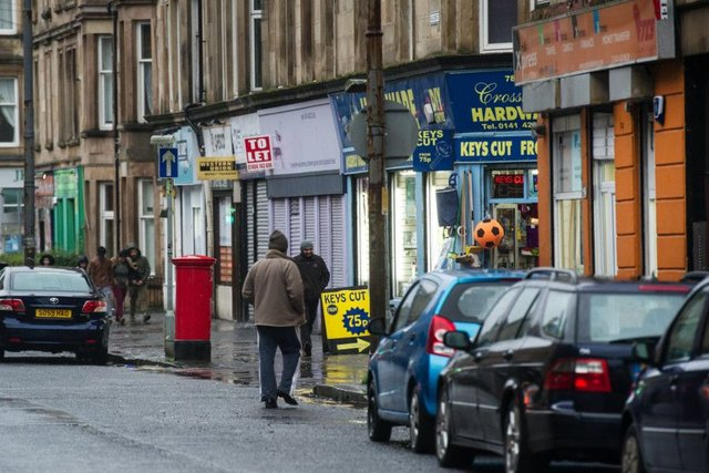 Research shows fast food and alcohol outlets are 'clustered' in Glasgow's most deprived areas. Picture: John Devlin