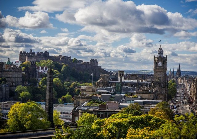 The view from Calton Hill takes in several prime locations in the capital. Picture: Steven Scott Taylor
