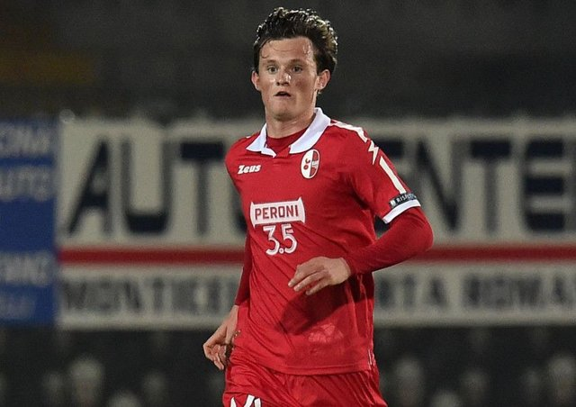 Liam Henderson in action for Bari against Ascoli. Picture: Giuseppe Bellini/Getty Images