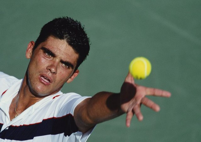 In his pomp Mark Philippoussis reached No 8 in the world rankings but never won a Grand Slam tournament. Picture: Gary M Prior/Getty Images