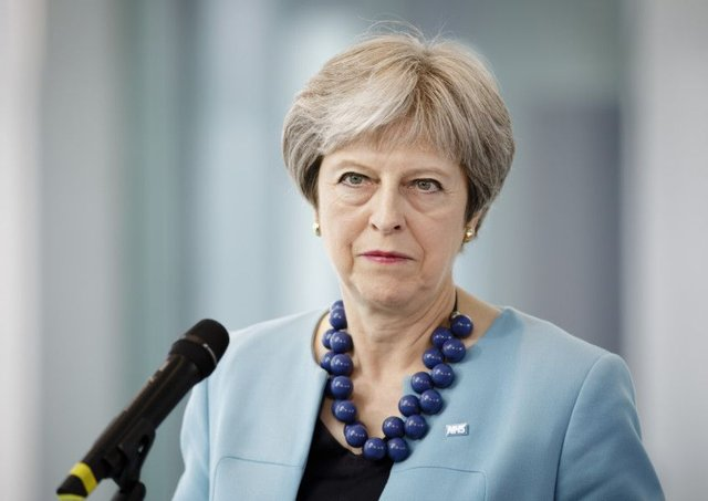 Theresa May. (Photo by Inga Kjer/Photothek via Getty Images)