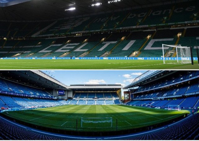Celtic Park and Ibrox Stadium could feature on PES 2019. Picture: SNS