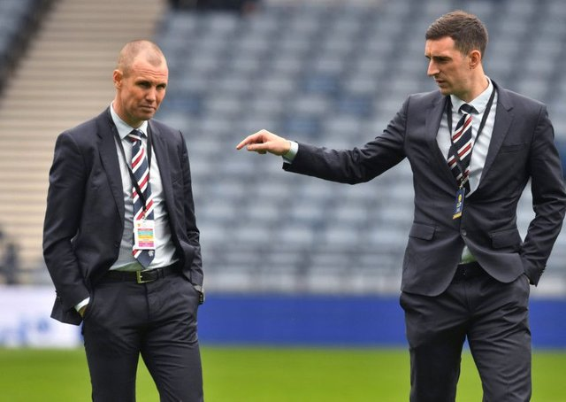 Kenny Miller and Lee Wallace. Picture: SNS/Craig Foy