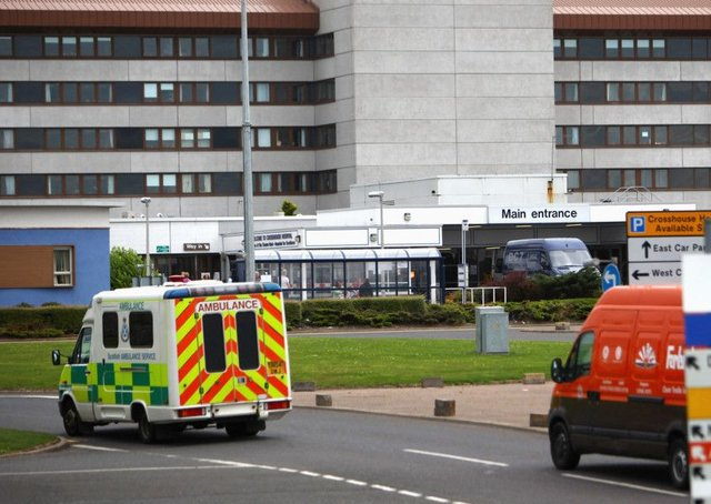 A general view of Crosshouse Hospital, near Kilmarnock, where Dr Alexander Waters was working before being suspended on full pay. Picture: Jeff J Mitchell/Getty Images
