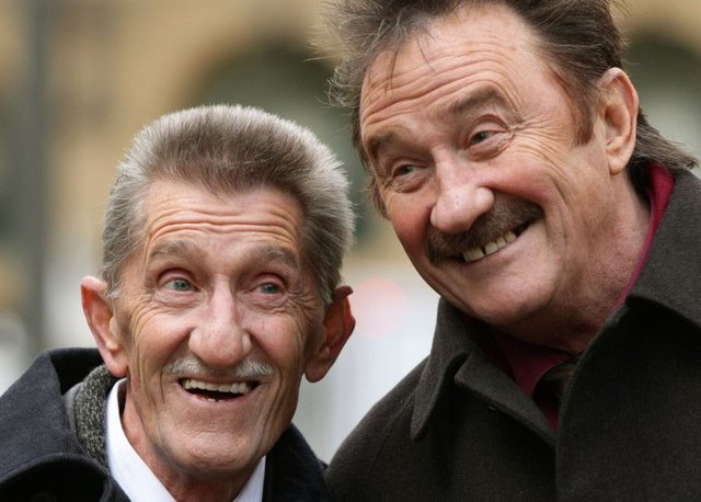 Chuckle Brothers, Barry (left) and Paul, as the veteran entertainer Barry Chuckle has died at the age of 73. Picture: PA