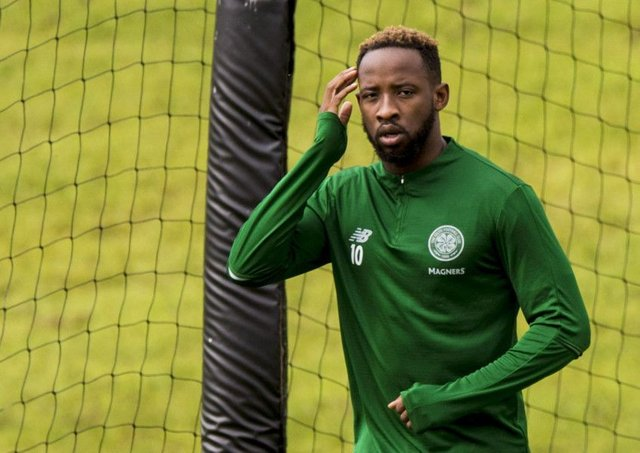Moussa Dembele is put through his paces at Celtic's Lennoxtown training complex. Picture: SNS Group