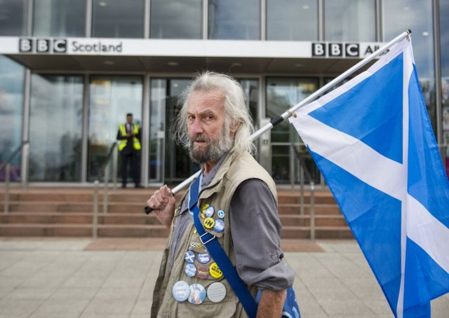 The BBC's failure to report on local pro indy marches across Scotland hsa not just infuriated Yes voters. Picture: John Devlin