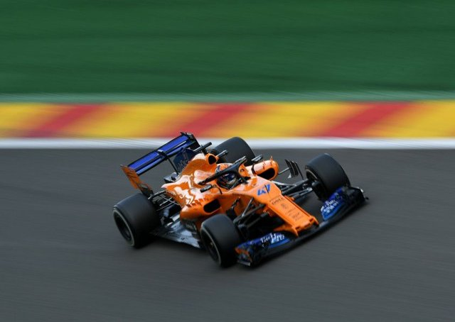 Lando Norris deputised for McLarens Fernando Alonso. Picture: Getty