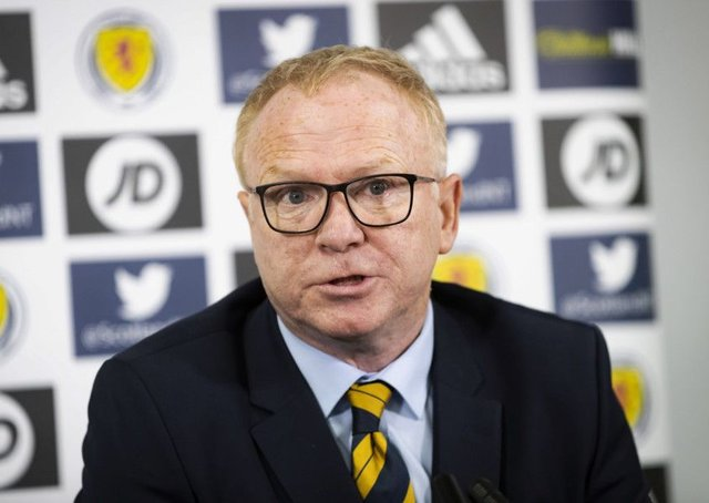 Scotland manager Alex McLeish speaks to the press at Hampden. Picture: Roddy Scott/SNS
