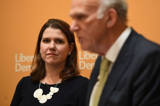 Lib Dem deputy leader Jo Swinson with leader Sir Vince Cable. Picture: Getty Images
