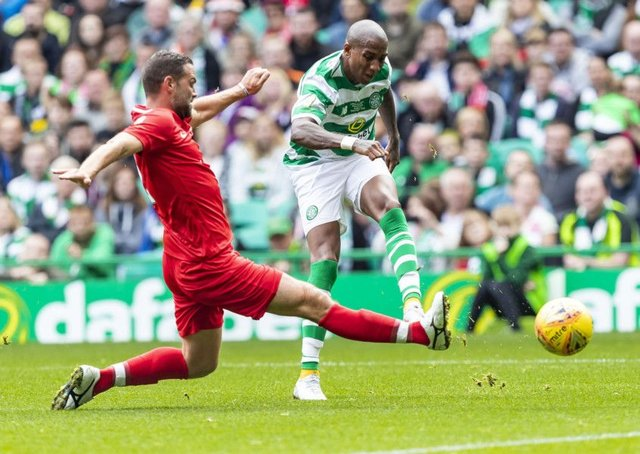 Ashley Young scored in the 3-3 draw at Parkhead - now Celtic fans want the club to sign him. Picture: SNS Group