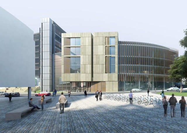 Artists impression issued by HLM of a new £90 million building at the University of Glasgow, which has been named in honour of one of its former students who became the first African American to get a medical degree. Picture: HLM/PA Wire.