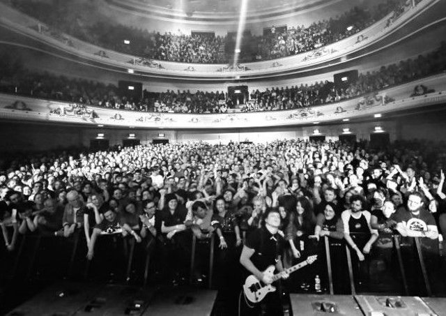 The Jack White gig at the Usher Hall in Edinburgh on Sunday when all mobile phones were banned from the auditorium and placed in lockable pouches. Picture: Contributed