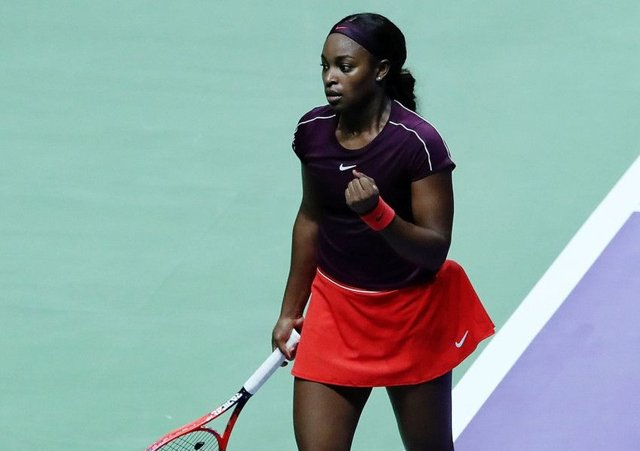 Sloane Stephens fought back to beat Karolina Pliskova. Picture: Yong Teck Lim/Getty Images for the WTA