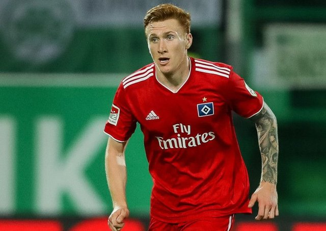 Scotland defender David Bates in action for his club, Hamburg. Picture: TF-Images/Getty