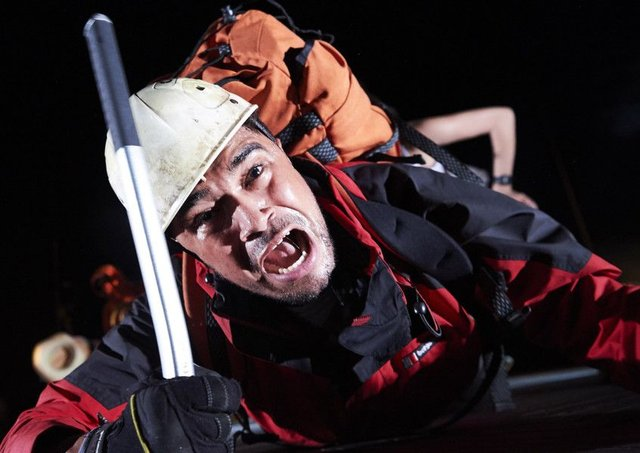 Josh Williams as Joe Simpson in Touching The Void PIC: Geraint Lewis