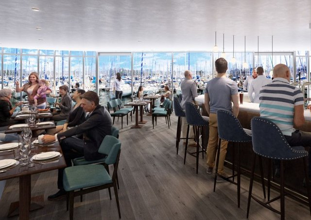The Bistro at Edinburgh Marina's new clubhouse. Pic: contributed