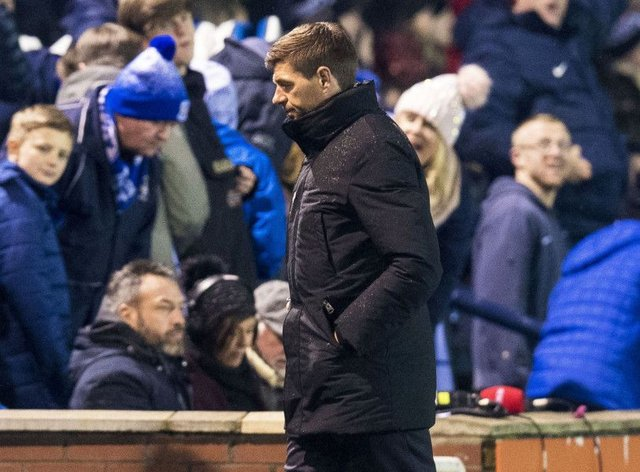 Rangers manager Steven Gerrard's decision to start Jermain Defoe with Alfredo Morelos has been questioned. Picture: SNS/Ross MacDonald